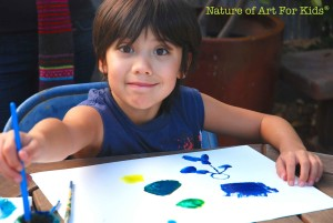 Homeschooling | Creating a Home Art Studio, painting with kids